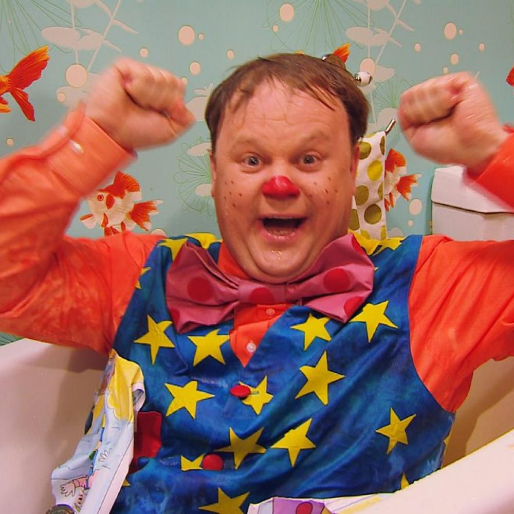 Mr Tumble in the bath