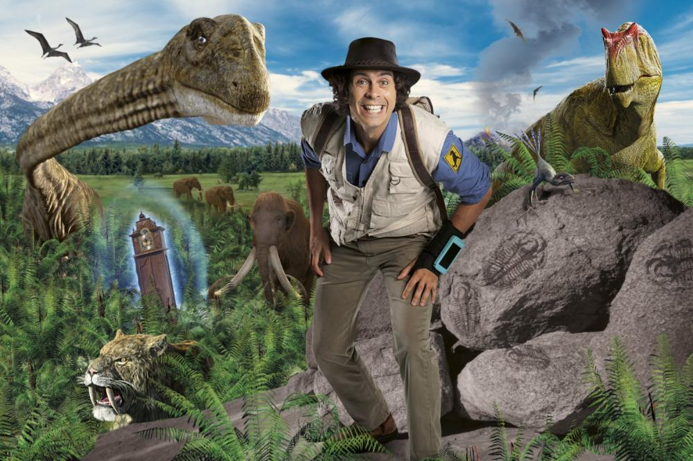 Andy among the dinosaurs